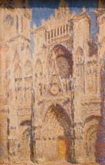 Roman Cathedral:  The Portal (Thomas Hawk) Tags: nyc usa newyork museum painting unitedstates manhattan unitedstatesofamerica met metropolitan metropolitanmuseum claudemonet themetropolitanmuseumofart romancathedraltheportal