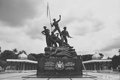 War Memorial (Alex.Quick) Tags: city travel white holiday black travelling observation landscape photography back travels nikon memorial war shot respect rip picture pic pack backpacking photograph fallen malaysia backpack kuala backpacker kl troops lumpur lumpu