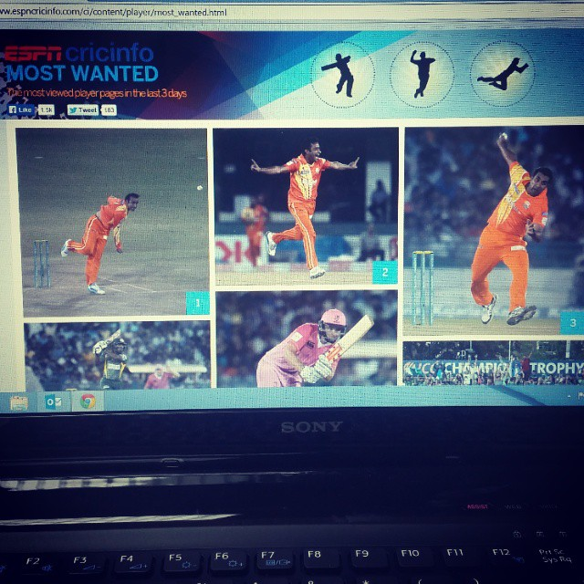 #Adnan #rasool, #imran #ali, #asif #raza :)  It was #great #day :D #mostwanted #players of #espncricinfo   #Clt20 #lahorelions vs #MumbaiIndians  #hashtag #like4like #likes4likes