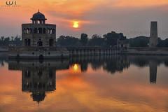 Hiran Minar... (Usman Hayat) Tags: pakistan sunset sky orange nikon nikkor lahore minar hayat d800 usman hiran sheikhupura d7000