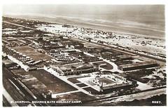 Squires Gate Holiday Camp, Blackpool (trainsandstuff) Tags: vintage postcard aerial retro lytham archival blackpool pontins holidaycamp squiresgate