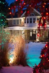 Slo Mo bulbs on a home (Christmas World) Tags: lighting christmas light house holiday snow tree led mo event incandescent slo c9 c7 christmaslitescom
