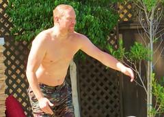 sunpool 059 (danimaniacs) Tags: shirtless man hot sexy guy beard hunk stud hunky mansolo