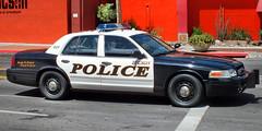 Tucson PD - Patrol 905 (Arthur Lombard) Tags: street city travel blue light red arizona orange usa white black ford colors car rouge us blackwhite tucson 911 police victoria bleu fujifilm crown 905 heroes emergency rue blanc patrol