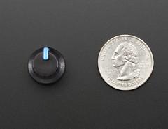 Potentiometer Knob - Soft Touch T18 - Blue (adafruit) Tags: touch knobs potentiometer sensors 2048 adafruit