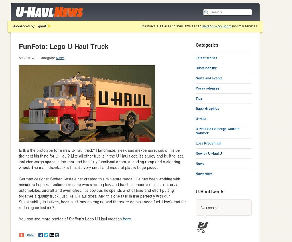 Superb img of Discovered by U HAUL! : ) (Buff83ST) Tags: color scale writing truck  with #B1711A color and 1024x848 pixels