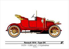 1914-Type EK (Raymond Martin-faber) Tags: cars automobile renault collection ek oldies infographie  voitures   belleepoque   louisrenault main qch martinfaber renaultheque raymondmartinfaber