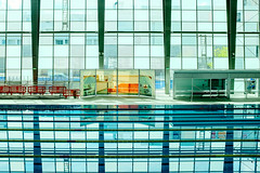 The Blues (Coussier) Tags: blue light reflection sports water pool swimming patterns piscina refraction reflexo coimbra maratonafotograficafna2014