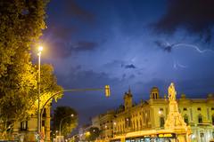 Summer Storm (Sasha.Dr) Tags: barcelona sky storm canon spain barca flash thunder summerstorm eos6d canon6d summer2014