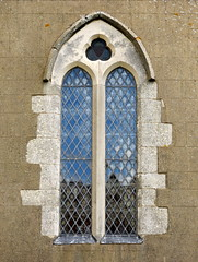 South aisle west end plate traceried window (restored 19th C.), the Church of St Andrew, Rippingale, Lincolnshire, England (Hunky Punk) Tags: uk windows england gothic churches plate andrew medieval lincolnshire middleages tracery lincs hunkypunk rippingale spencermeans