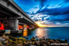 05-30-2015_20.40.45-device-2000-wm (iSuffusion) Tags: longexposure bridge sunset storm clouds stpetersburg us nikon unitedstates florida hdr skyway terraceia d700 bower14mm28