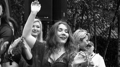 Edinburgh Canal Festival 2015 - belly dancers 05 (byronv2) Tags: portrait blackandwhite bw woman sexy girl monochrome beautiful smile face festival hair scotland canal blackwhite dance breasts edinburgh tits hand dancing boobs candid stage bra bellydancer dancer sensual cleavage performers performer bellydancing peoplewatching tollcross unioncanal downblouse edimbourg fountainbridge lochrinbasin canalfestival edinburghcanalfestival edinburghcanalfestival2015 canalfestival2015