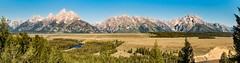 Teton Panorama - Explore (Ron Drew) Tags: nikon d800 wyoming grandteton grandtetonnationalpark mountains river snakeriver trees plain landscape outdoor rockymountains overlook stitch panorama summer usa morning