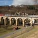 SBB Re 460 mit EW IV auf dem Rümlinger Viadukt am alten Hauenstein