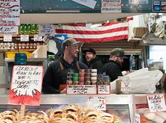 DSC_4454 (miss_michelle) Tags: city downtown farmersmarket fish market outdoors pikeplace rain rainy seattle street
