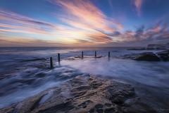 Colourful Flow (Crouchy69) Tags: sunrise dawn landscape seascape ocean sea water coast clouds sky rocks flow motion ivor ivo rowe pool coogee beach sydney australia