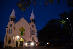 Guests arrive for a concert at St. Peter's Church in Ingonish. (photo: Steve Wadden)
