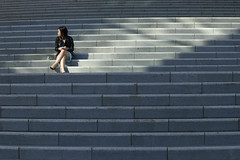 girl on steps (Salle-Ann) Tags: woman girl sitting steps sydney nsw sydneyuniversity