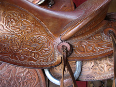Saddle Detail (FagerstromFotos) Tags: horses leather riding equestrian saddles horseriding tooledleather leathersaddles tooledleathersaddles greatamericanhorsestore