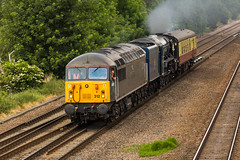 """DCR Class 56/3 no 56312 at Tupton on 18-06-2014 with 60163 """"Tornado"""" from Barrow Hill to Crewe Heritage Centre+ (kevaruka) Tags: uk greatbritain summer england sun sex"""