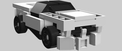 Heavy car (skenera) Tags: scale car four lego little small wide turbo tiny micro vehicle 4wide
