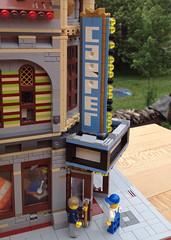 Lego MOC: Palace Carpets (eurotrash48903) Tags: carpet lego modular carpetshop 32wide