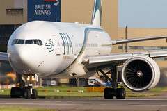 Pakistan International Airlines - PIA Boeing 777-200/LR AP-BGY (Phil Broad) Tags: pakistan london plane airplane flying airport heathrow aircraft aviation flight jet aeroplane planes boeing pia departure 777 spotting lhr heathrowairport departing lineup flugzeuge planespotting boeing777 egll pakistaninternationalairlines jetwash 27r apbgy canon6d philbroad