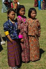 bhutan faces- 8 (cam17) Tags: bhutan dressedup formalwear kira nationalcostume nationaldress younggirls wonju wangditsechu facesofbhutan bhutanfaces bhutanesefaces innationaldress bhutanesecostume bhutanesegarb kiraskirt wonjublouse wangdifestival