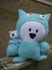 Ice-Bat Ci-Wong (tiramisu_addict) Tags: bear toys handmade plush madebyme uglydolls icebat davidhorvath sunminkim susuten uglycon icebatciwwong