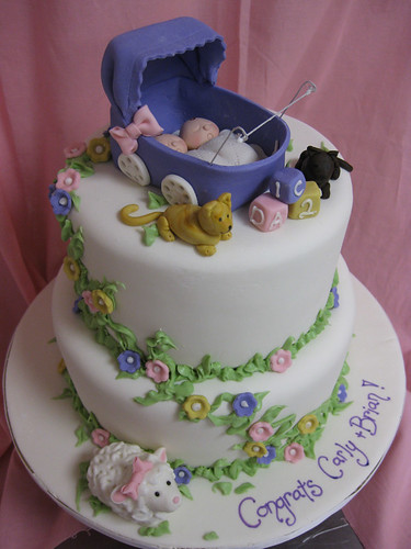 Twin Baby Stroller Cake