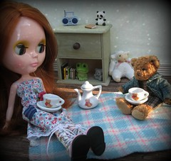 Tea party (Jenni @ Good Dolly) Tags: bear party picnic teddy tea blythe