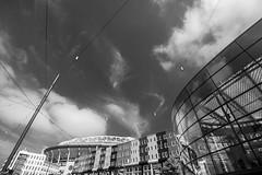 (McQuaide Photography) Tags: blackandwhite bw holland netherlands monochrome amsterdam architecture canon amsterdamzuidoost eos blackwhite zuidoost europe nederland wideangle dslr modernistarchitecture modernarchitecture uwa wideanglelens ultrawideangle 100d 1018mm mcquaidephotography