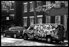 NYC (Maurice Asseraf) Tags: street new york nyc girls people urban bw usa white black art car fashion architecture truck 35mm underground subway photography graffiti photo nikon funny shoot metro afro unitedstatesofamerica d70s style scene hardcore scenario shooting parked graff nikkor f18 18 candids ruined trucck fixedfocal
