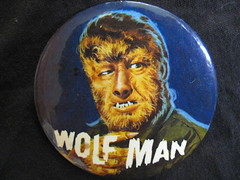 "1965 Elwar 3.5 "" Wolf Man Badge (Donald Deveau) Tags: badge button wolfman pinback monstermovie vintagetoy famousmonsters universalmonsters vintagemonster elwar"