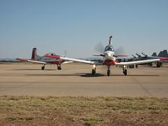 BDF Open Day 09 PC-7 (jblaverick) Tags: africa airport day open force jonathan air wing pilatus gaborone botswana airforce sir defence trainer pc7 laverick khama seretse botswanaaviationart bdfopenday09