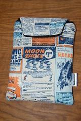 Rocket Age kindle case (cuckoo blue) Tags: blue boy orange man comics ads fun child handmade sewing fabric gift waterproof newsprint kindle octoberafternoon kindlecase rileyblake rocketageads