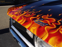 1968 Camaro -  Flames (Sixxarp) Tags: ca usa flames camaro 1968 concord musclecar