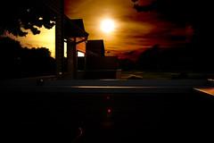 Intensity (kirsten.elise) Tags: morning reflection 30 sunrise intense backyard michigan apocalypse burning lensflare flare intensity filternd westlong exposuremaskinglevelsgimpphoto editingbwnd