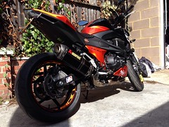 Image Alfie786 Tags Orange Monster Crash Tail Stickers Decal Kawasaki Z800 Tidy Silencer
