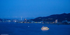 BLUE FREEWAY (Zhouboq) Tags: blue sunset river way boat taiwan free taipei 淡水 tamsui