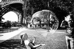 Eiffel Tower bubble fun