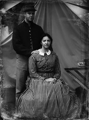 """Confederate Couple"" (photo_secessionist) Tags: portrait postprocessed history bob diana civilwar 150thanniversary 18611865 fakevintage pentaxart"