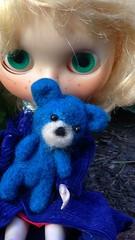 Singrid loves her needle felted miniature bear