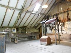 Cotehele Mill, Cornwall. The saddelry. (hercon2000uk) Tags: vice workbench tack cotehele saddlery screwpress