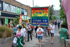 "RMT Banner in the Plymouth Pride Parade • <a style=""font-size:0.8em;"" href=""http://www.flickr.com/photos/66700933@N06/14857591246/"" target=""_blank"">View on Flickr</a>"