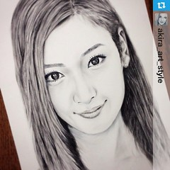 #Repost from @akira_art_style with @repostapp  ---  @nanao_official #菜々緒 #draw #drawing #art #illustration #picture #sketch #art_design_gallery #似顔絵 #スケッチ #drybrush #drybrushing #portrait #worldofpencils #featuring_art #arts_magazine #love #cute #instagoo