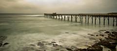 Surfer, Catherine Hill Bay (loobyloo55) Tags: longexposure sea seascape water jetty australia centralcoastnsw