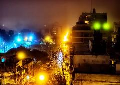 Niebla a la noche - Fog at night (celta4) Tags: city argentina fog night buildings lights luces edificios buenosaires ciudad nocturna niebla