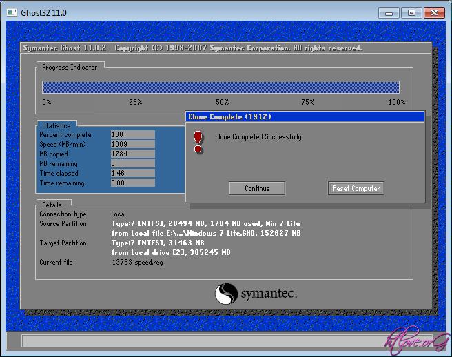 Windows 7 - جوست ويندوز 7 النسخة الخفيفة لجميع الاجهزة Ghost Windows