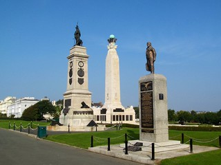 Memorials on Plymouth Hoe.